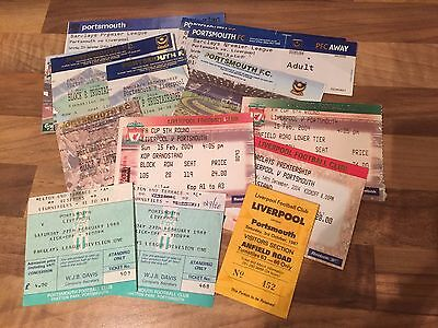 Collection of 15 Ticket Stubs - Portsmouth v Liverpool 1987 - 2009