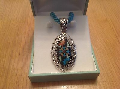 Carolyn Pollack south western sterling silver pendant and chain from QVC