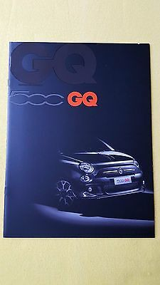 Fiat 500 GQ Special Edition official marketing paper brochure June 2013 MINT G Q