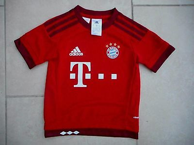 Official Bayern Munchen Fc Shirt By Adidas Red Age 2-3 * Excellent