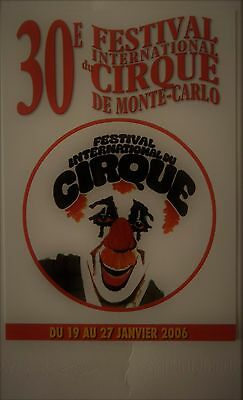 CARTE POSTALE 30eFESTIVAL INTERNATIONAL DU CIRQUE MONTE-CARLO 19 AU 27 01 2006