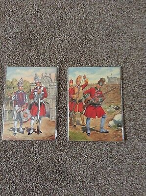 2 Sealed Sets Of 8 Postcards Depicting Uniforms Of The Royal Marines