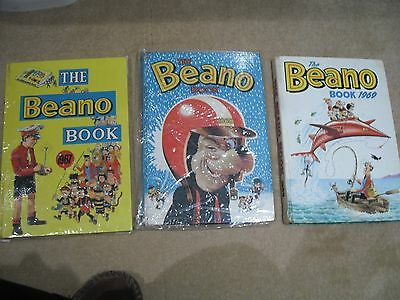 1967,1968 and 1969 Beano Annuals