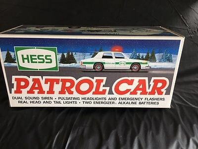 New 1993 Hess Patrol Car duel Sound Siren NIB