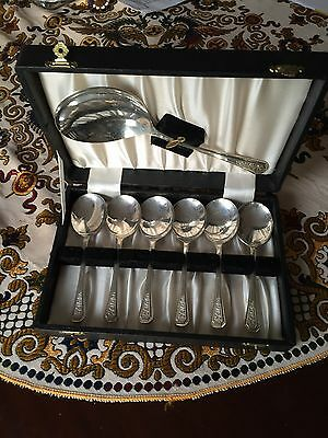 Spoons Set Silver Plate In Box