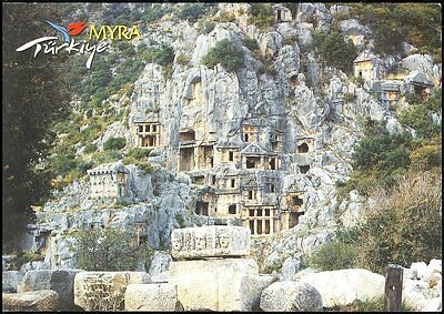 View -Myra Demre-Antayla - Turkey Posted Stamp Intact