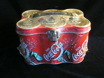 6  Pack Coca-Cola - Coke - Lunch Box Container Storage Box+ Jawbreaker Candy New