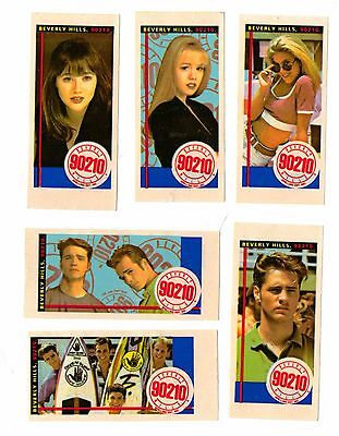 """Topps """"beverly Hills  90210 """" Bubble Gum Stickers & Wrapper 1991"""
