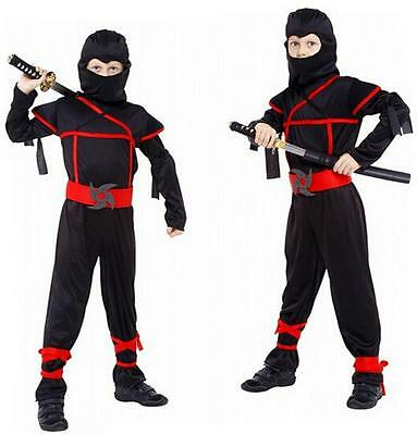 Stealth Ninja Child Kids Boys Fancy Dress Up Party Halloween Costume I ぴ