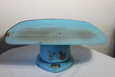 Scale Baby Infant Blue Metal Vintage Doll Decor Weight Check Holiday Sale