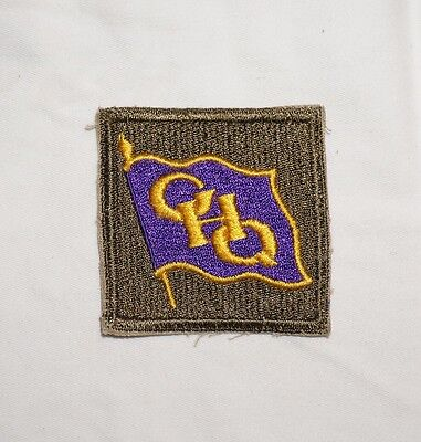 GHQ Pacific Purple Flag Patch WWII US Army P0502
