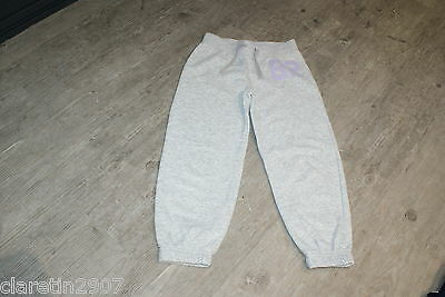 Girls Grey Tracksuit Trousers Bottoms Age 6 From Next Used Cotton Mix