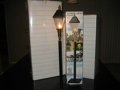 Original Christmas Telco Motionettes Old World Lamp Post For Display Figurines
