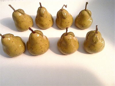 Place-Card Holders Set of 8 Handmade Pears w Twig Stems