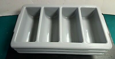 Winco 4 Compartment Cultery Bins Nsf - Pl-4B Lot Of 3