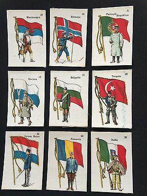 Cigarette Cards & Collectables **10 x Flags Of Nations, La Favorita**