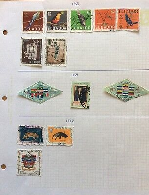 Small Collection  Of Ecuador Stamps