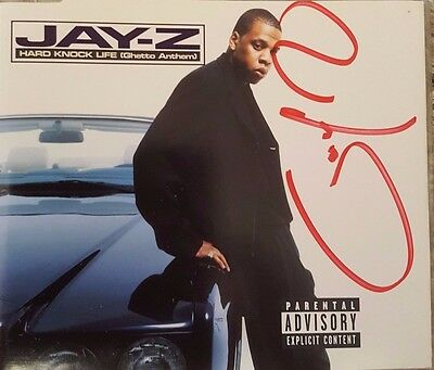 Jay-Z Hand Signed Cd Single - Hard Knock Life - Rare - Autographed