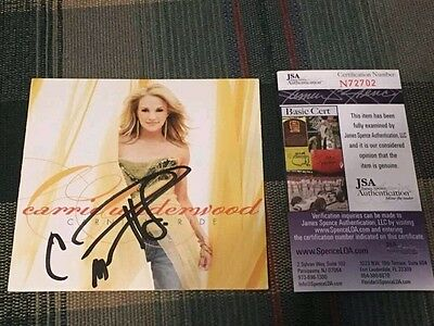 CARRIE UNDERWOOD signed CARNIVAL RIDE cd booklet JSA Certified COA auto