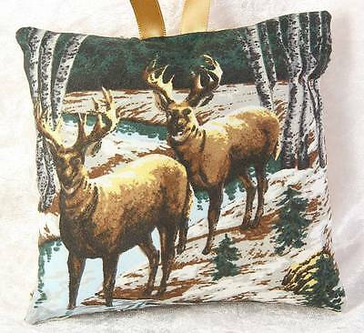 Mini Scented Cushion featuring deer fawn stag  any occasion gift design 2