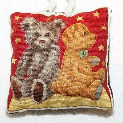 Mini Scented Cushion featuring brown bear Teddy  any ocassion gift design 10