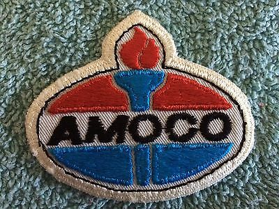 "Amoco Service Station/ Gas Iron On Patch. 2.5"" X 3"". New."