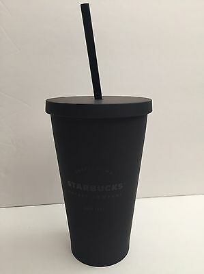 Matte Black Starbucks Acrylic Cold Cup 16 Oz. NEW SOLD OUT