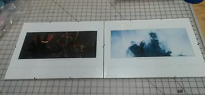 LOTR Fan Club  Limited Edition Lithographs Dark Lord Sauron, Witch King In Glass