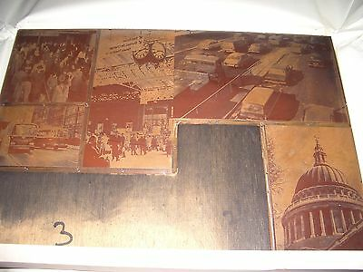 Rare Vintage Copper Printing Plate London St Pauls Cathederal,samuelsons Coach