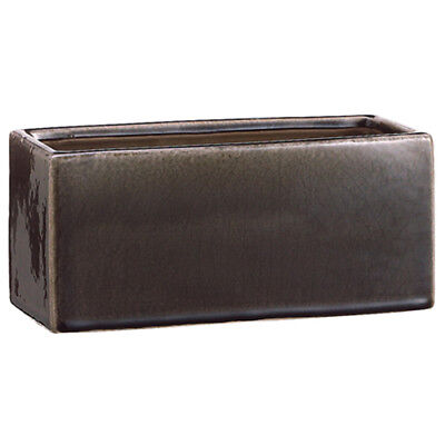 """3.9""""Hx9""""W Ceramic Rectangle Planter -Charcoal (pack of 6)"""