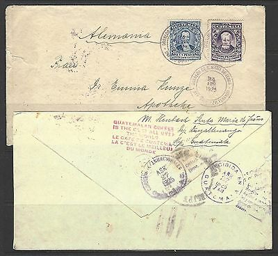 Guatemala 1925 Slogans S. Maria Jesus Double Weight 1924 Rate Cover