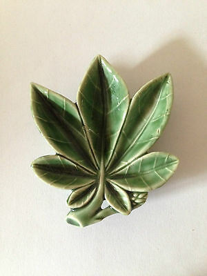 WADE Pottery Green Leaf Collectable Marijuana