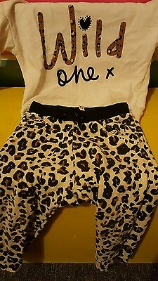 girls animal print river island outfit