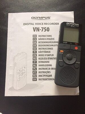 Olympus VN-750 Digital Voice/sound Recorder/dictaphone