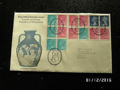 GB STAMPS FDC - DEFINITIVES STORY OF WEDGWOOD - 24 MAY 1972 - USED - 49p START