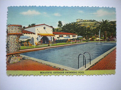 Postcard Guenther's Murrieta Mineral Hot Springs Swimming Pool Postmark 1951