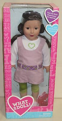 BRUNETTE HIPPY dress 18 inch DOLL - What a Doll - Madame Alexander NIB NEW