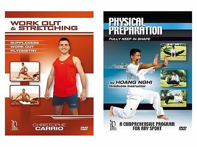 fitness workout & stretching & physical preparation 2 dvd set Carrio SET1