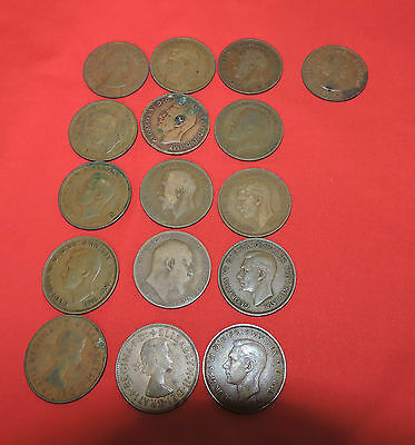 16 X  old copper pennies