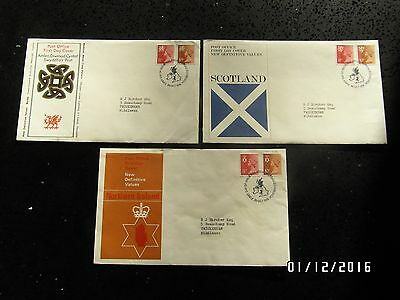 GB STAMPS FDC - DEFINITIVES NI, WALES  & SCOTLAND - 20 OCT 1976 -USED- 49p START