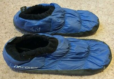Nordisk down tent slippers, size small (UK 3-5.5) kids climbing shoe overshoe