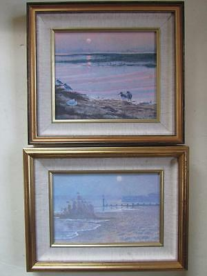 TONY PAUL (1944-) Pair Of Signed Original Paintings BOURNEMOUTH & POOLE HARBOUR