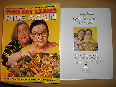 TWO FAT LADIES - TWO FAT LADIES RIDE AGAIN  1st/1st  HB/DJ 1997  SIGNED x 2