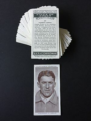 Cigarette Cards & Collectables **Churchman - Kings Of Speed, Set 50**
