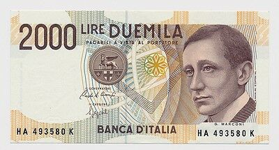 ITALY banknote 2000 LIRE 1990.
