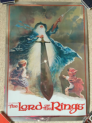 Rare Silver Poster for animated Lord of the Rings - Ralph Bakshi