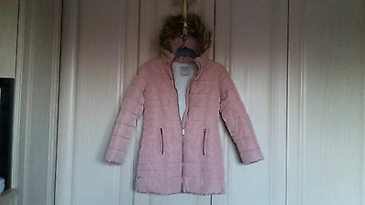 A Girls Next Fur Lined Padded Coat Age 10 Years