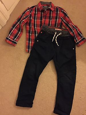 Boys Trousers And Shirt Age 3/4 Years