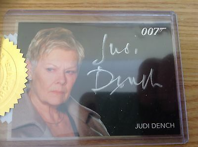 James Bond Classics 2016 Autograph Card Silver Signature Series Judy Dench as M