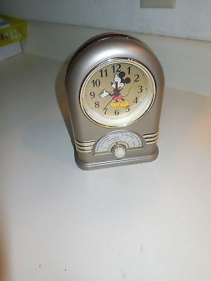 Seiko 1987 Disney Mickey Mouse Musical Alarm Clock! WORKS/SOUNDS GREAT-QFD206G